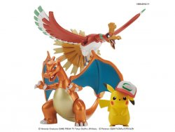 Pokemon The Movie Model Kit Ho-Oh & Charizard & Ash's Pikachu