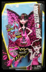 Monster High Ghoul-to-Bat Draculaura Transformerbar docka