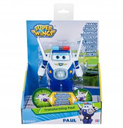 Super Wings - Transforming Paul 12 cm white / blue