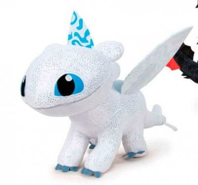 How To Train Your Dragon 3 Lightfury Gosedjur Höjd 18 Cm Lyser