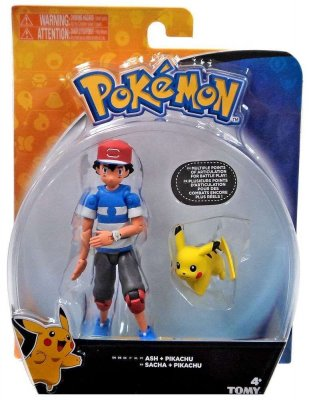 Pokemon Sun & Moon Ash & Pikachu Action Figure