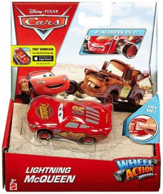 Disney / Pixar Cars Wheel Action Drivers Lightning McQueen Diecast Car
